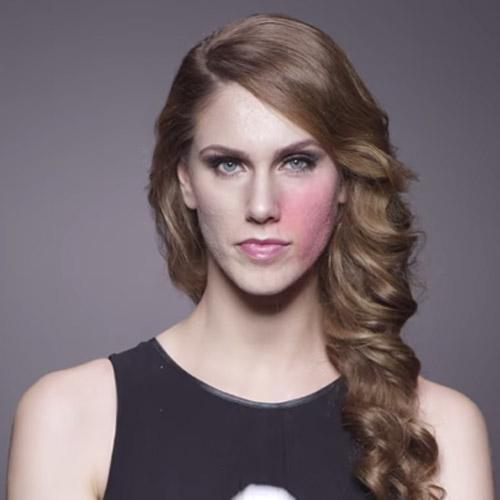 Modelo mostra o incrível poder da maquiagem