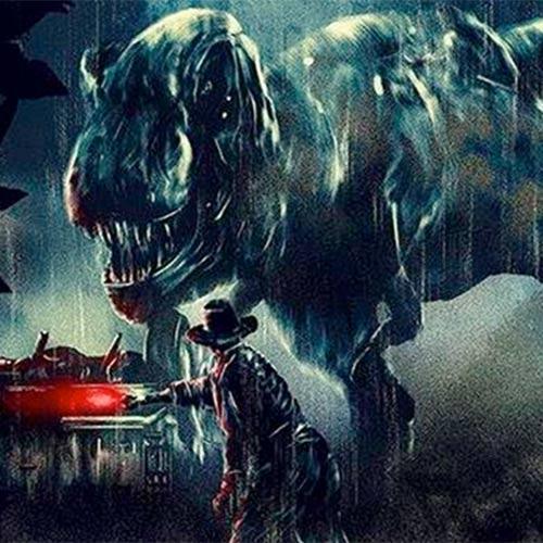 Goonies e Jurassic Park em artes da Galeria Hero Complex