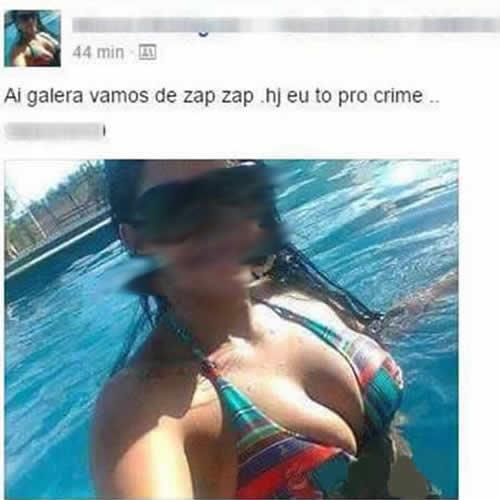 Quando uma mulher tá pro crime...